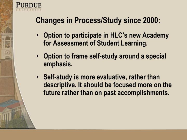 Option to participate in HLC's new Academy for Assessment of Student Learning.