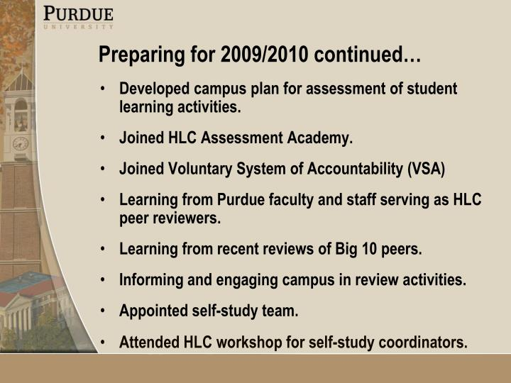 Developed campus plan for assessment of student learning activities.