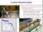 coolant vibration studies