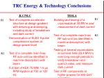 trc energy technology conclusions