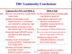 trc luminosity conclusions