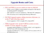 upgrade routes and costs