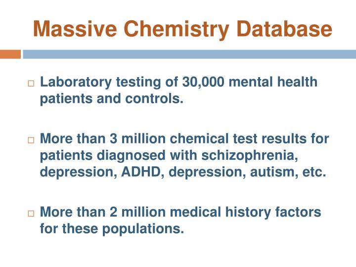 Massive Chemistry Database