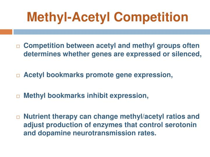 Methyl-Acetyl Competition