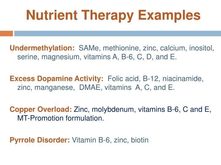 Nutrient Therapy Examples