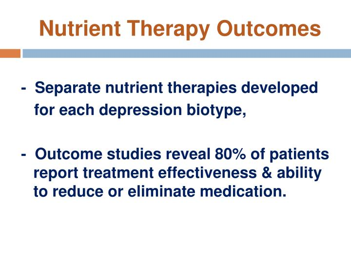 Nutrient Therapy Outcomes