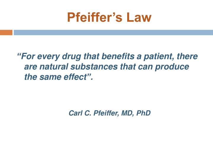 Pfeiffer's Law