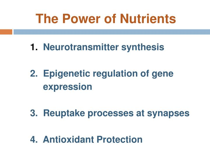 The Power of Nutrients