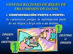 configuraciones de redes de transmisi n de datos