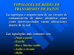 topolog a de redes de transmisi n de datos