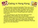 eating in hong kong