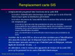 remplacement carte sis