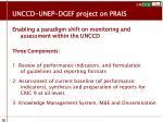 unccd unep dgef project on prais