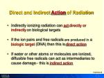 direct and indirect action of radiation