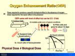 oxygen enhancement ratio oer