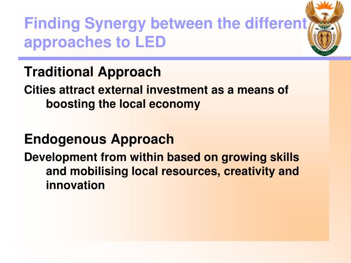 Finding Synergy between the different approaches to LED
