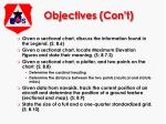 objectives con t1