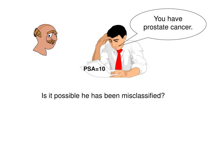 You have prostate cancer.