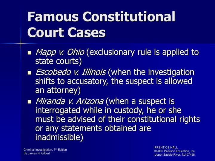 Famous Constitutional Court Cases