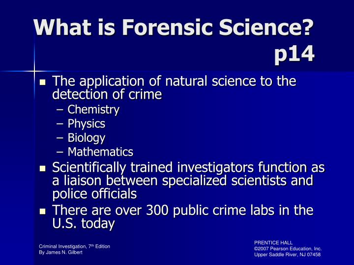 scientific method criminal investigation Forensic science and the scientific method abstract the scientific method, a time-honored approach for discovering and testing scientific truth, does not and cannot work for the forensic sciences in its standard form because it does not work for past events.