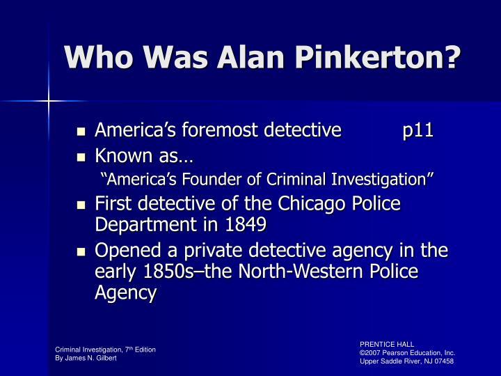 Who Was Alan Pinkerton?