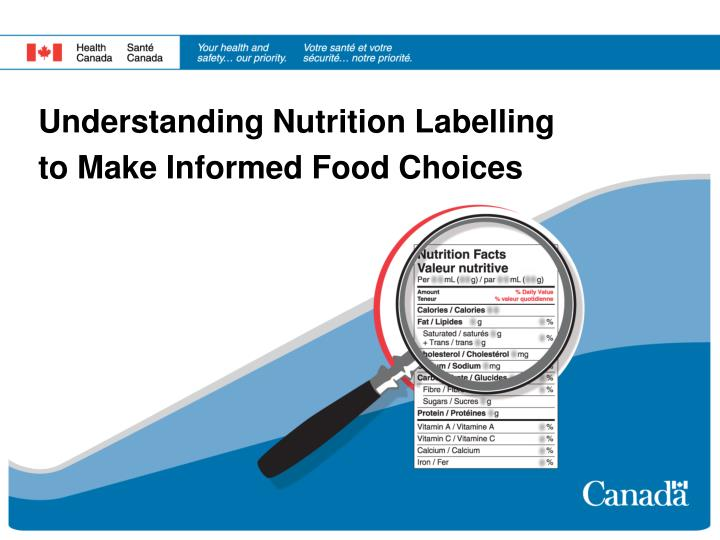understanding nutrition labelling to make informed food choices n.