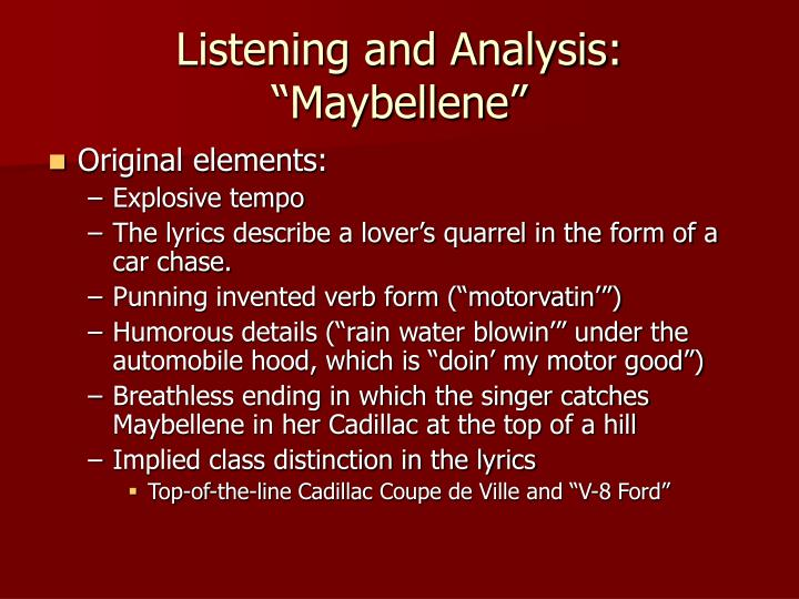 "Listening and Analysis: ""Maybellene"""