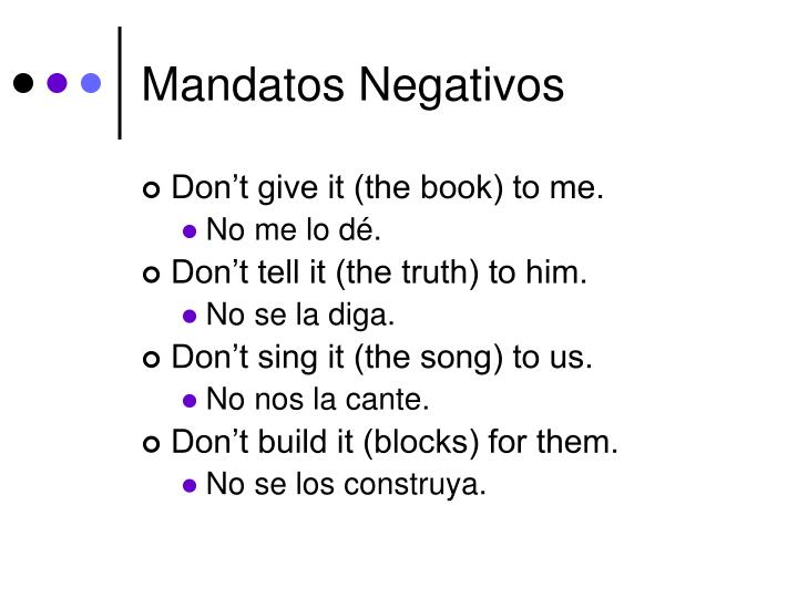 Mandatos Negativos