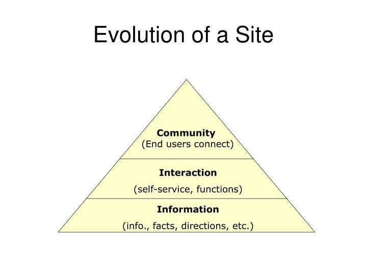 Evolution of a Site