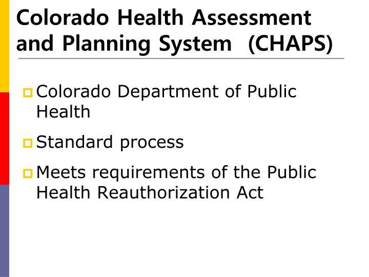Colorado Health Assessment