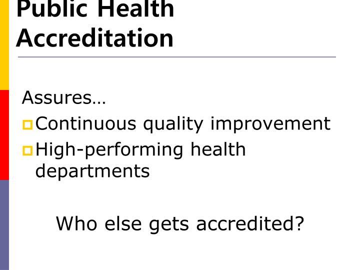 Public Health Accreditation