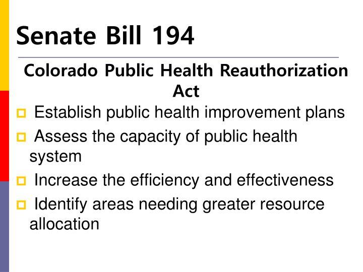 Senate Bill 194