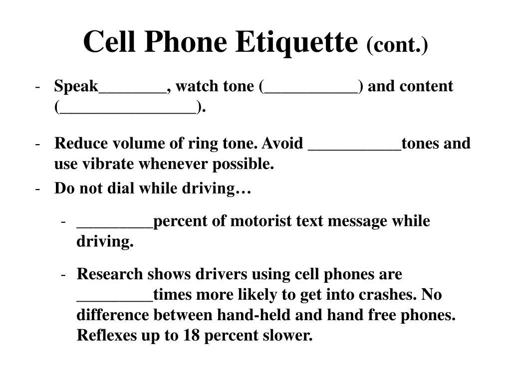 PPT - TELEPHONE ETIQUETTE PowerPoint Presentation - ID:4314349
