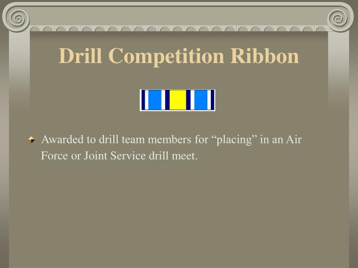 Drill Competition Ribbon
