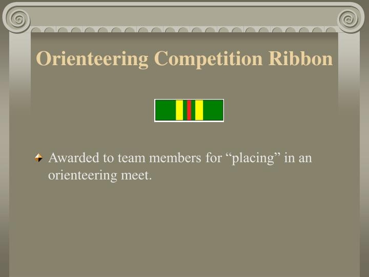 Orienteering Competition Ribbon