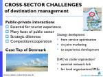 cross sector challenges of destination management