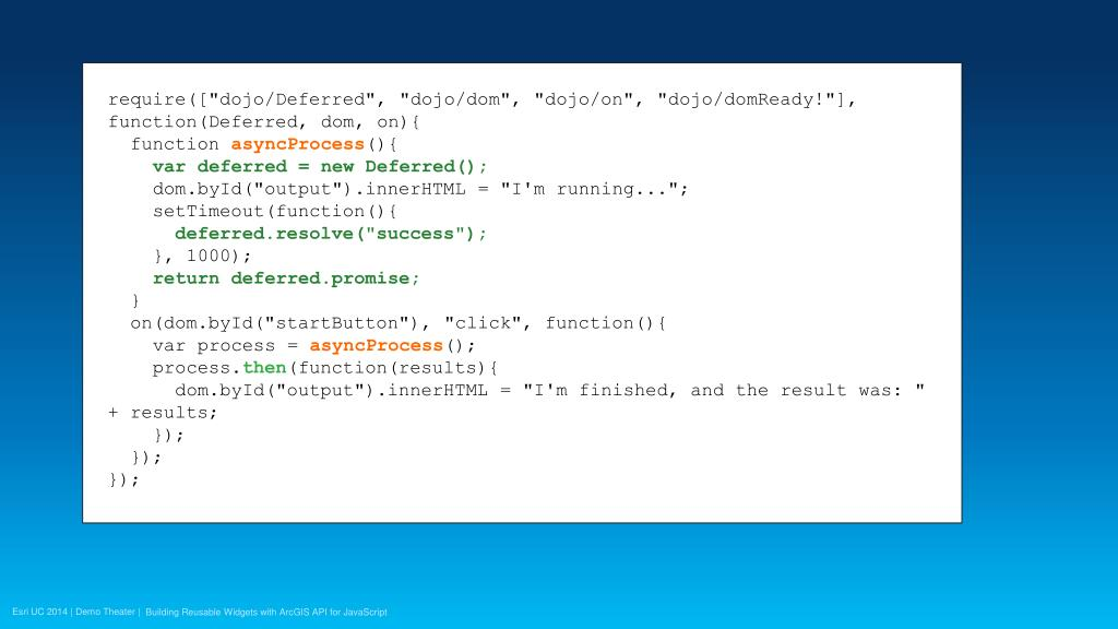 PPT - Building Reusable Widgets with ArcGIS API for