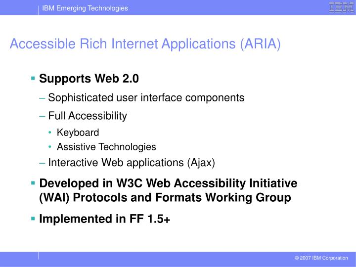 Accessible Rich Internet Applications (ARIA)