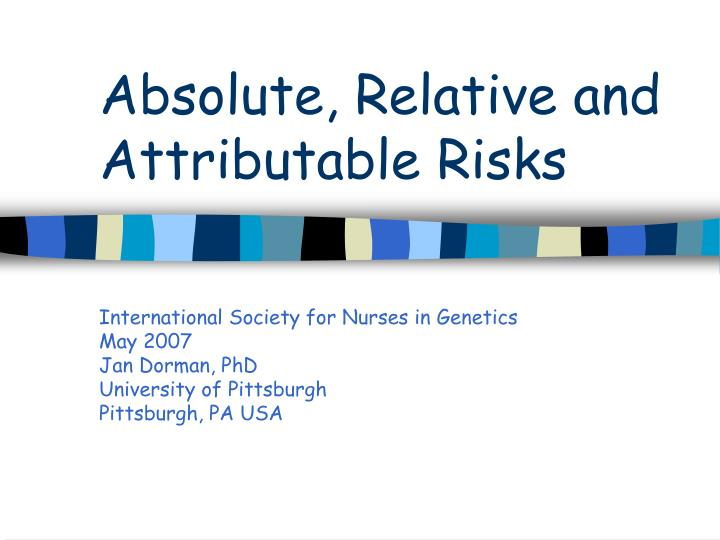 absolute relative and attributable risks n.