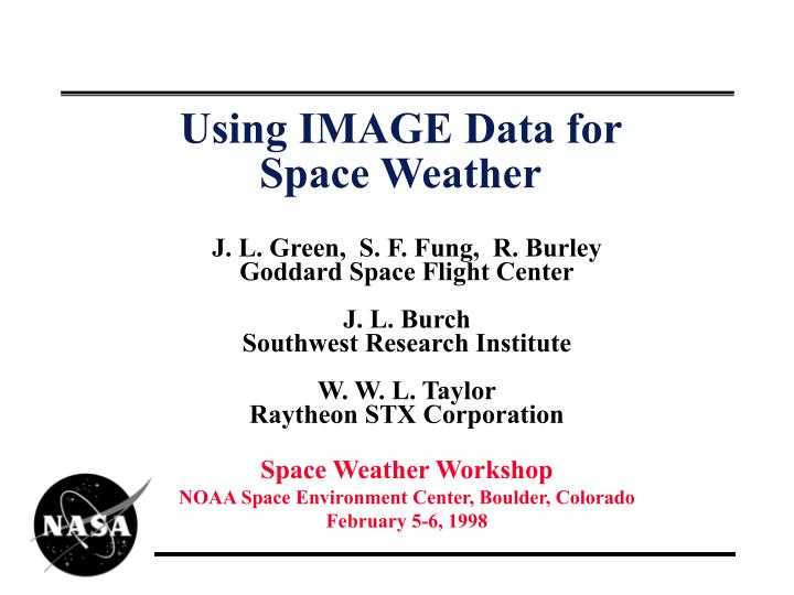 using image data for space weather n.