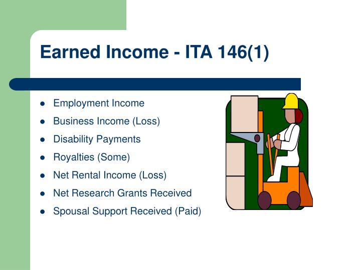 Earned Income - ITA 146(1)