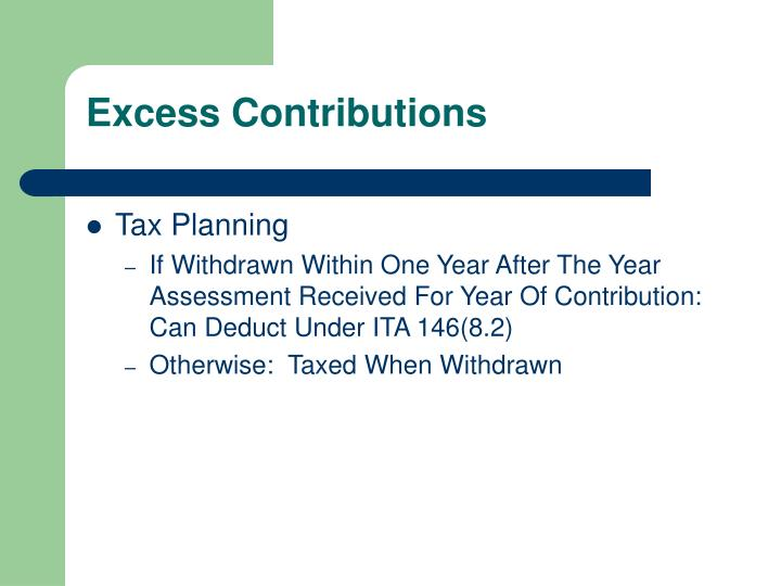 Excess Contributions