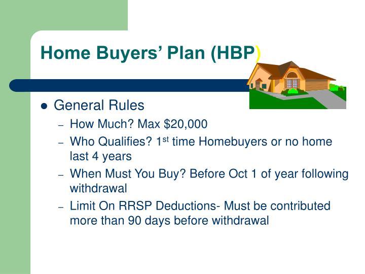 Home Buyers' Plan (HBP