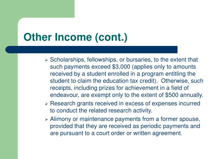 Other Income (cont.)
