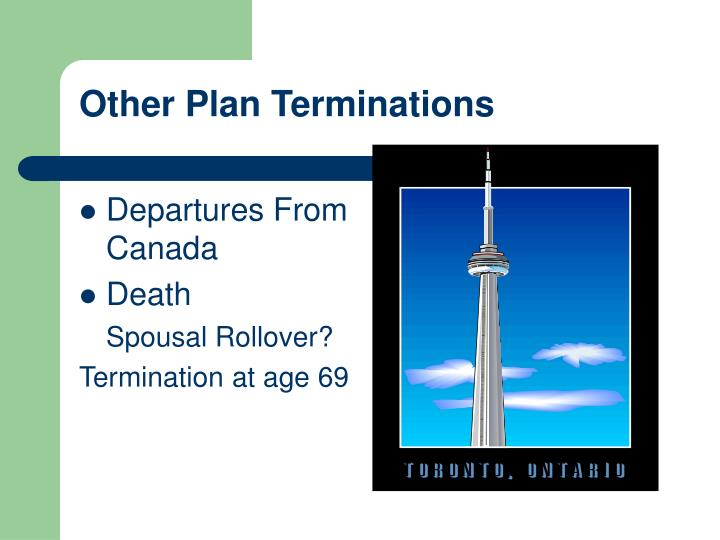 Other Plan Terminations