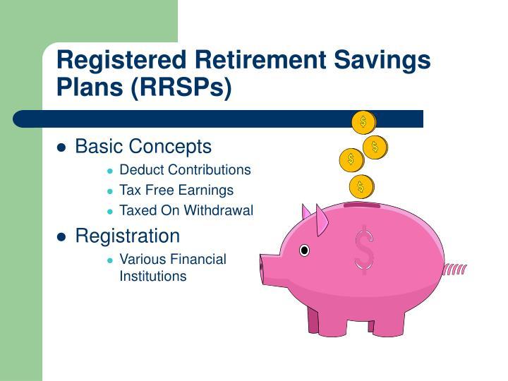 Registered Retirement Savings Plans (RRSPs)