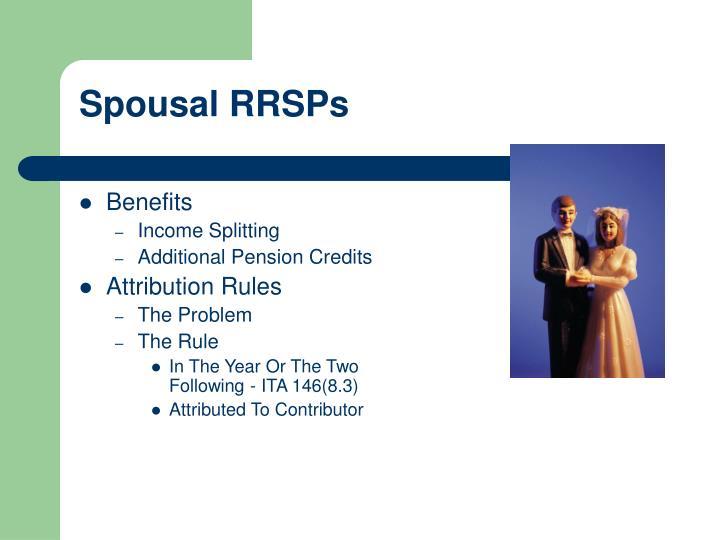 Spousal RRSPs