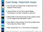 case study important issues