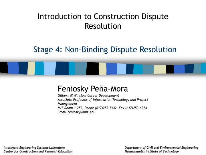 stage 4 non binding dispute resolution