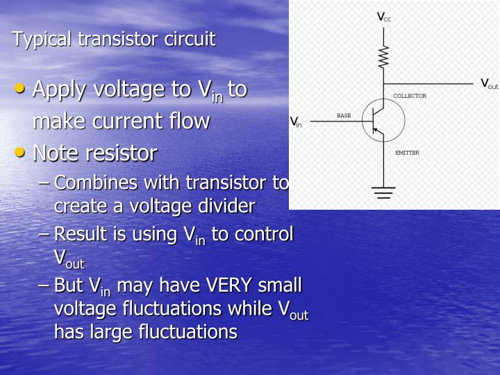 Typical transistor circuit